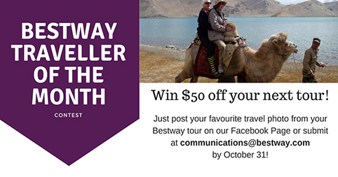You could be our next Bestway Traveller of the Month!