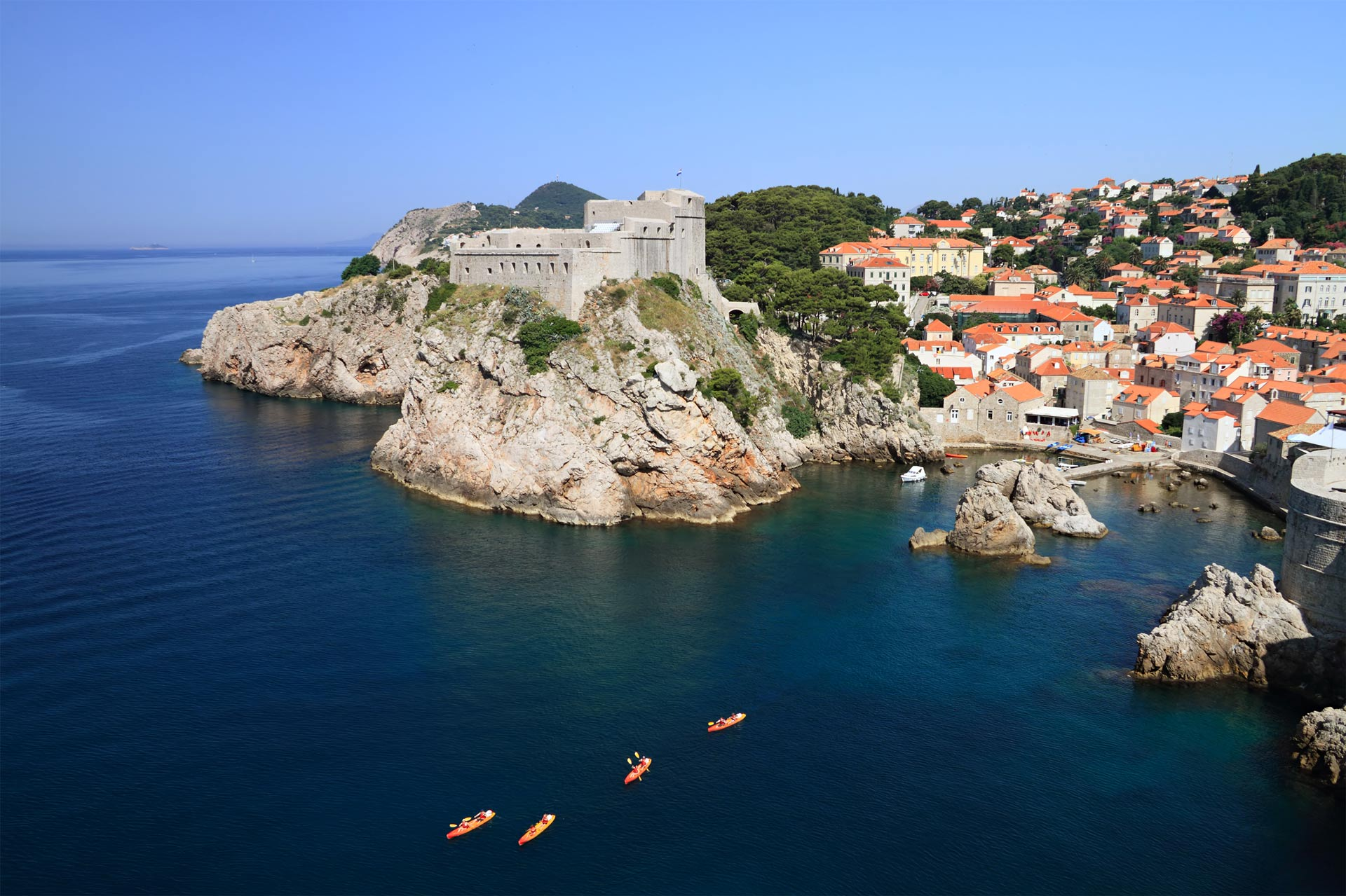 Dubrovnik is nicknamed Pearl of the Adriatic and is listed as a UNESCO World Heritage Site