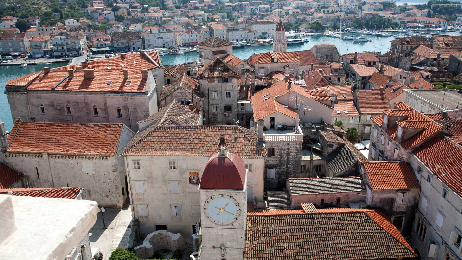 Loggia with clock tower, Trogir, Split-Dalmatia, Croatia