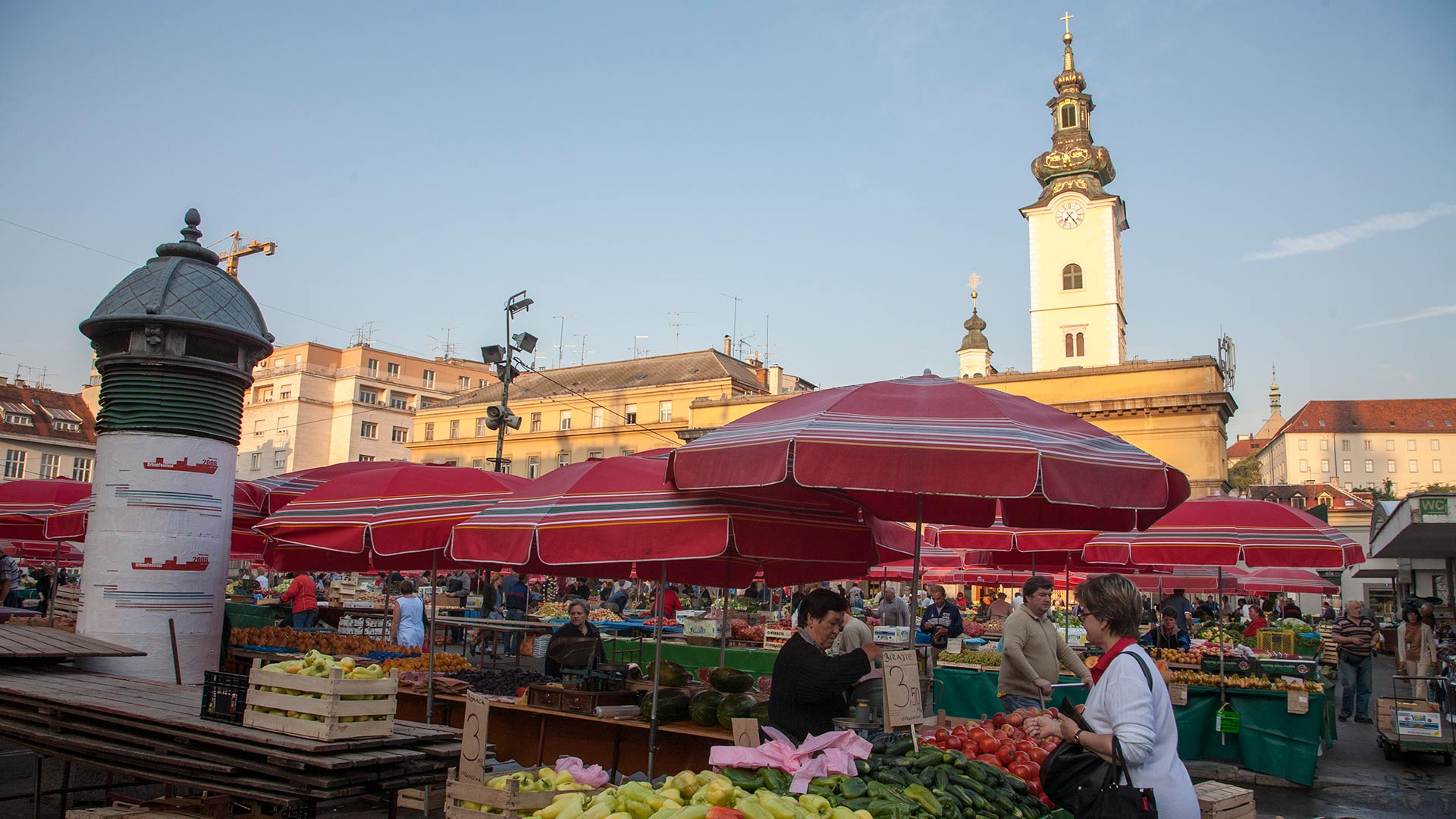 Dolac fruit and vegetable market, Zagreb, Grad Zagreb, Croatia