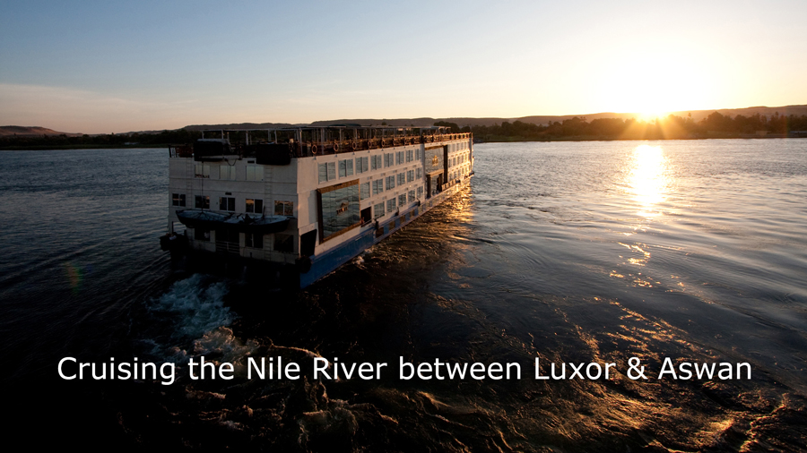 Cruising the Nile River between Luxor & Aswan