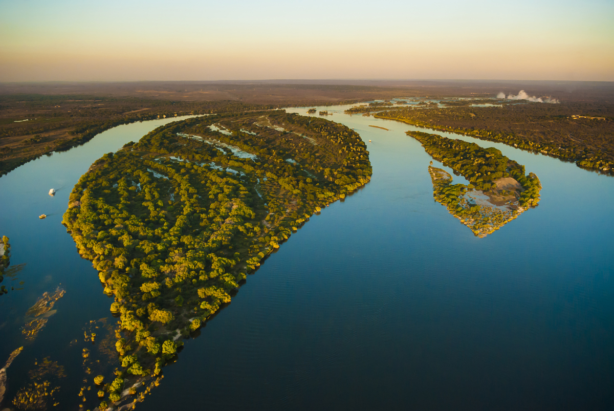 Zambezi river - Aerial view
