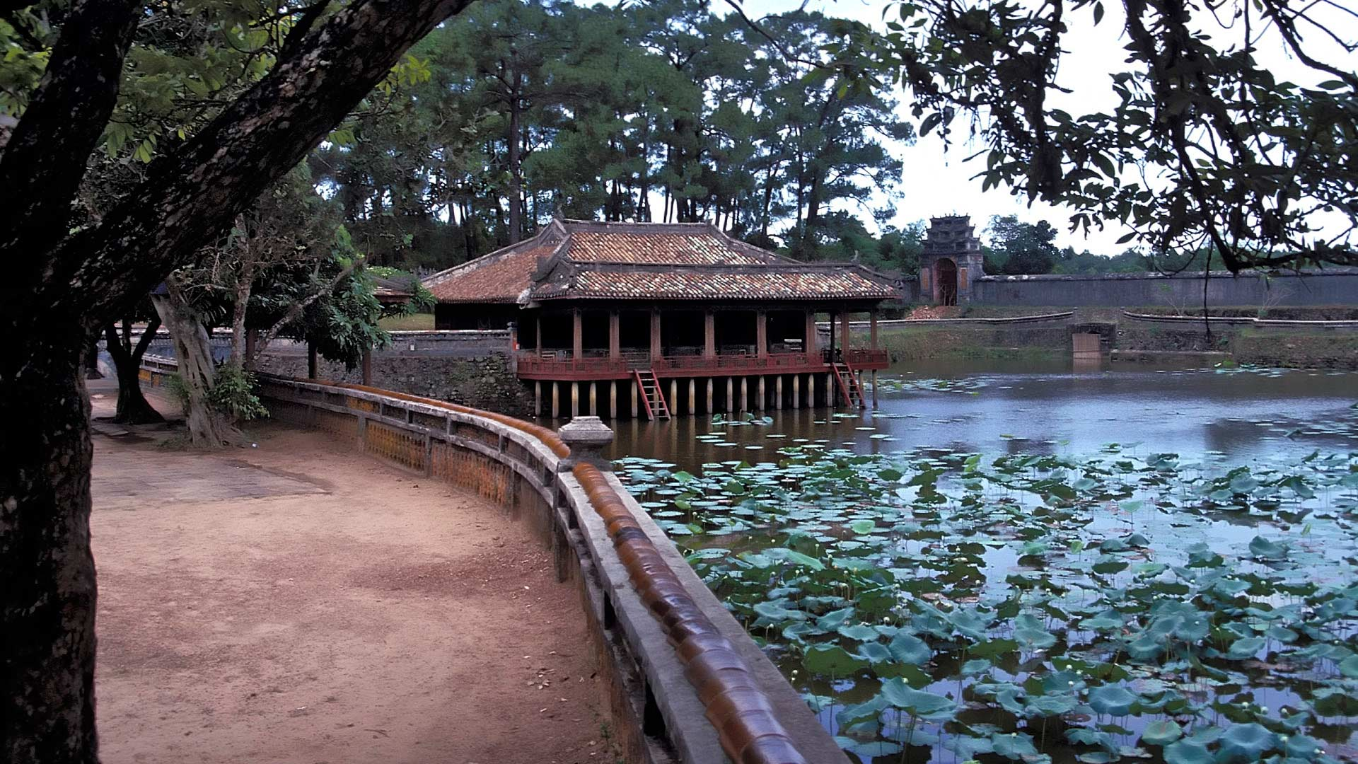 Xung Khiem Pavilion on Luu Khiem Lake located by Tu Duc's Tomb, Hue, Thua Thien-Hue, Vietnam