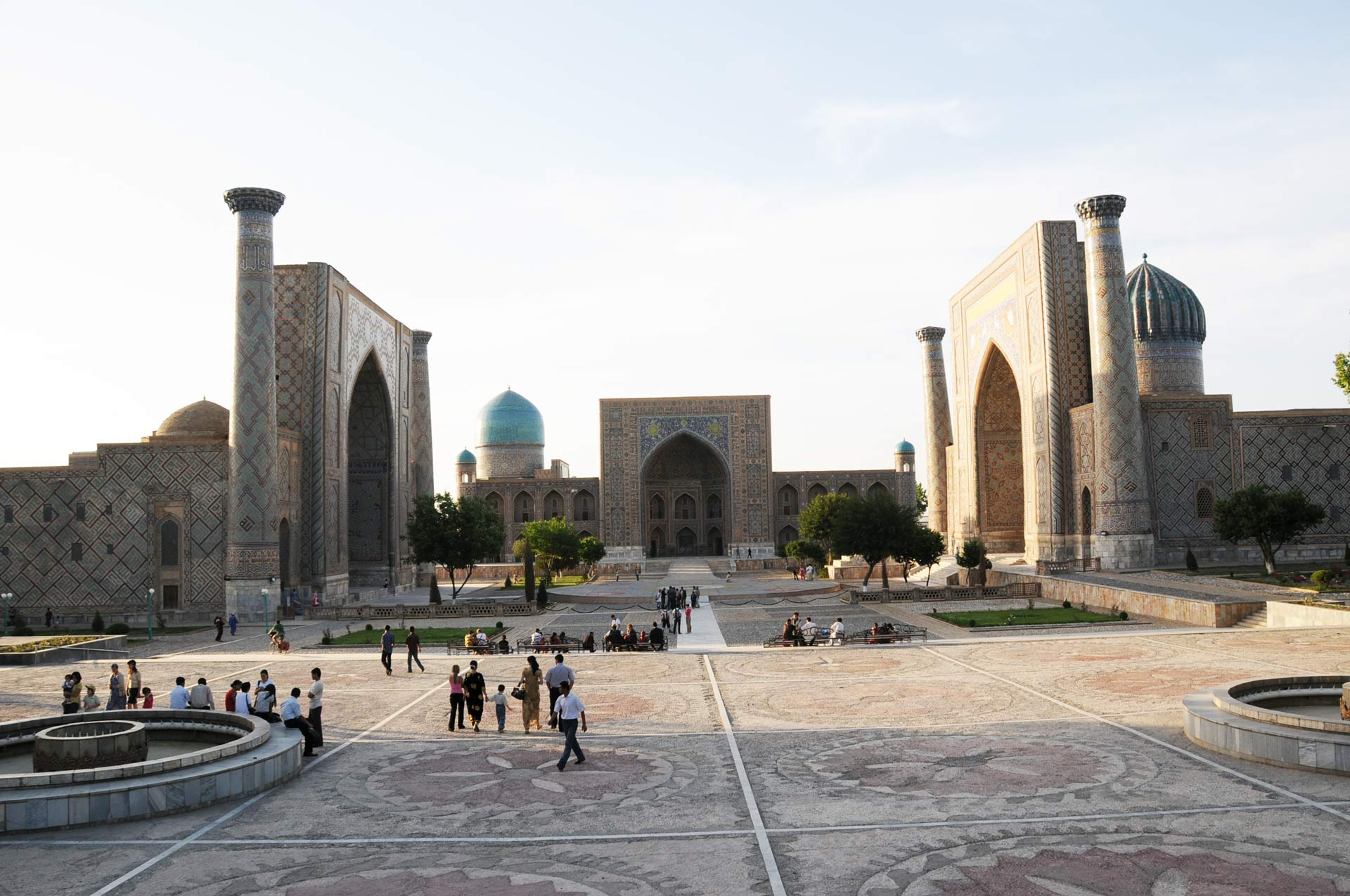 The Registan, the heart of the ancient city of Samarkand