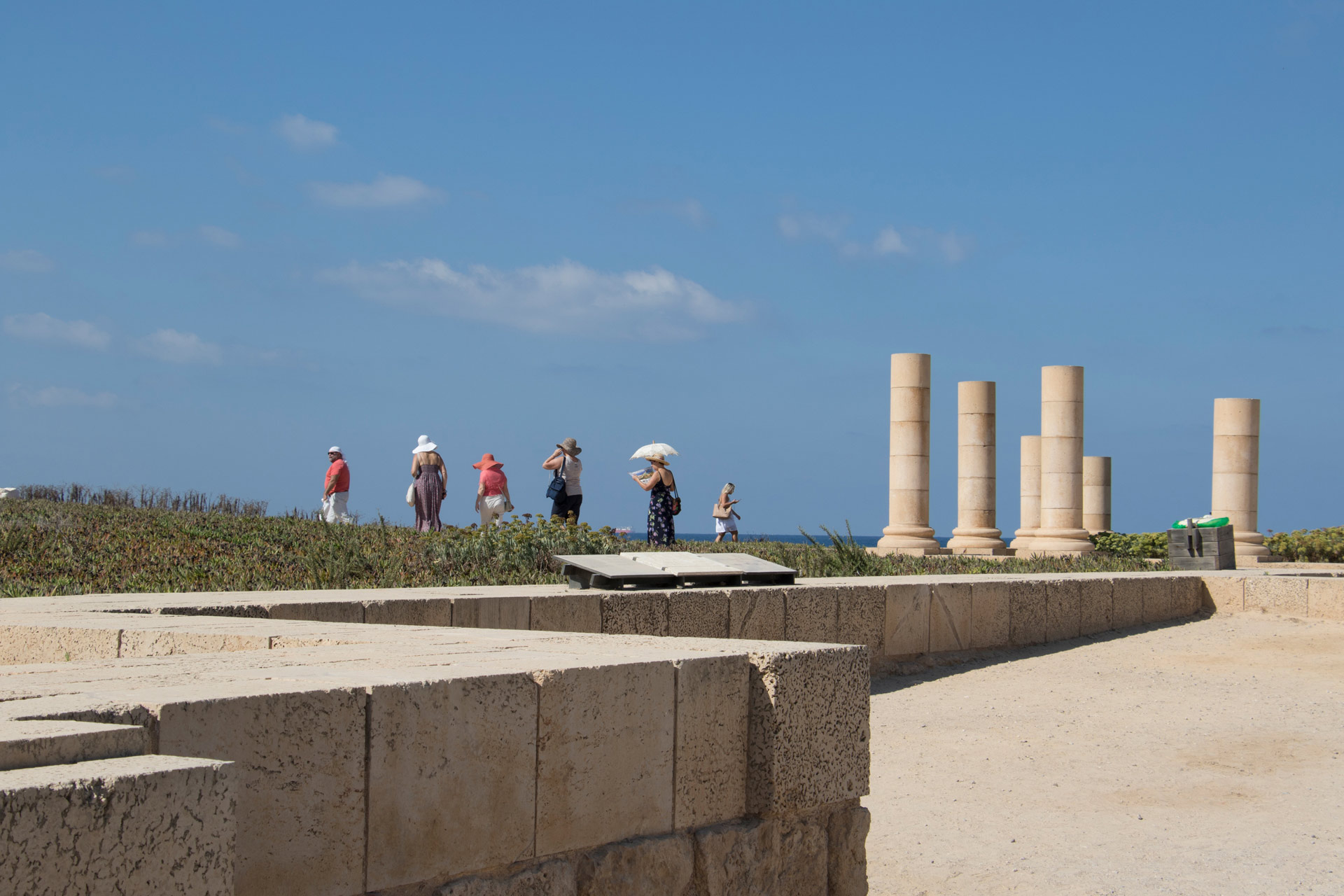 Peristyle Courtyard of the Promontory Palace, Caesarea, Israel