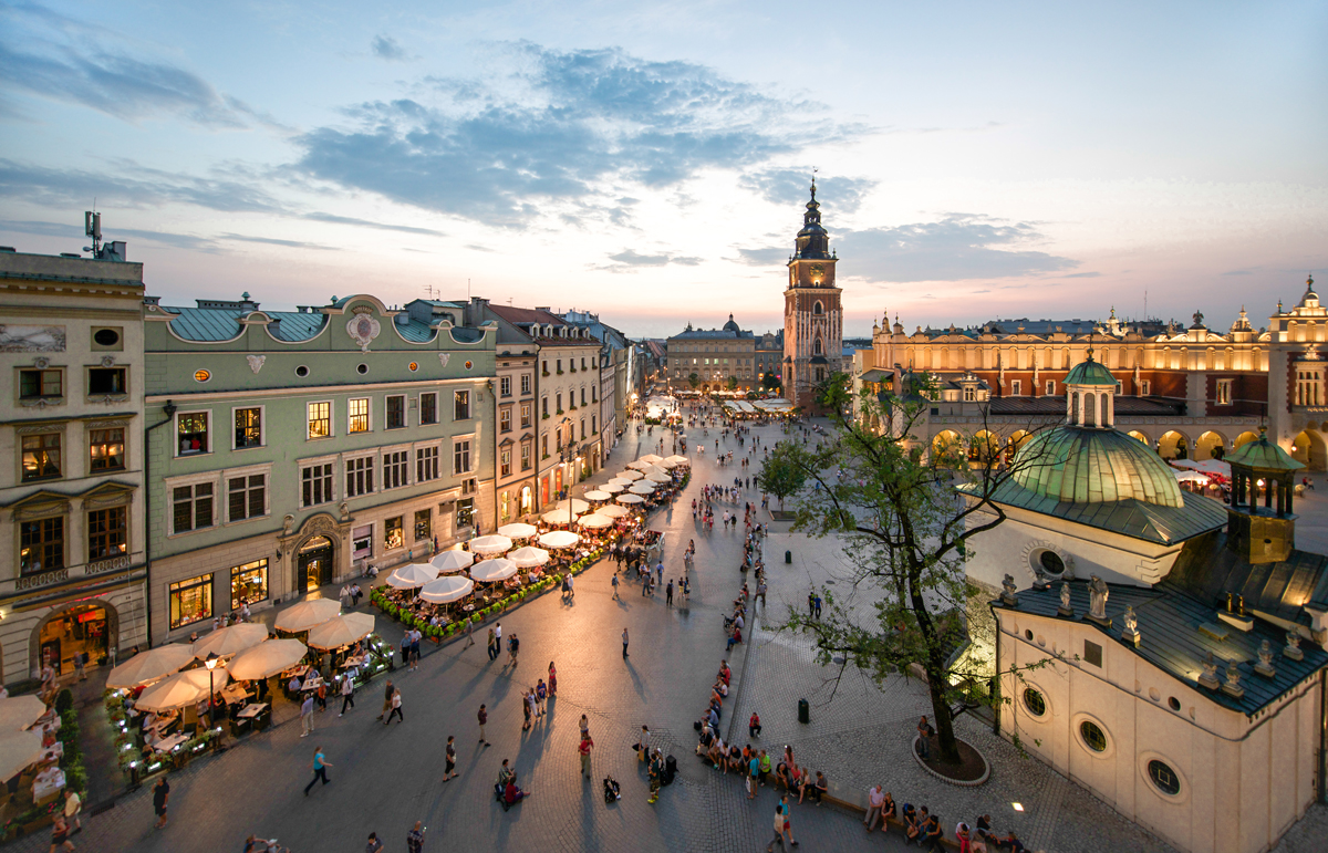 The Main Market Square in Cracow, Old Town, Poland