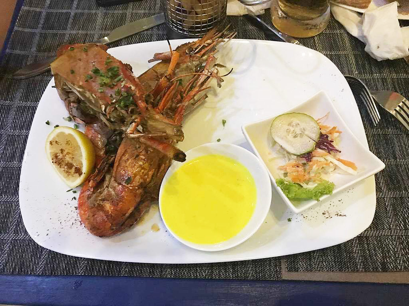 sea food of Reunion island