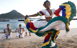 dancing girl, Indian Ocean Islands