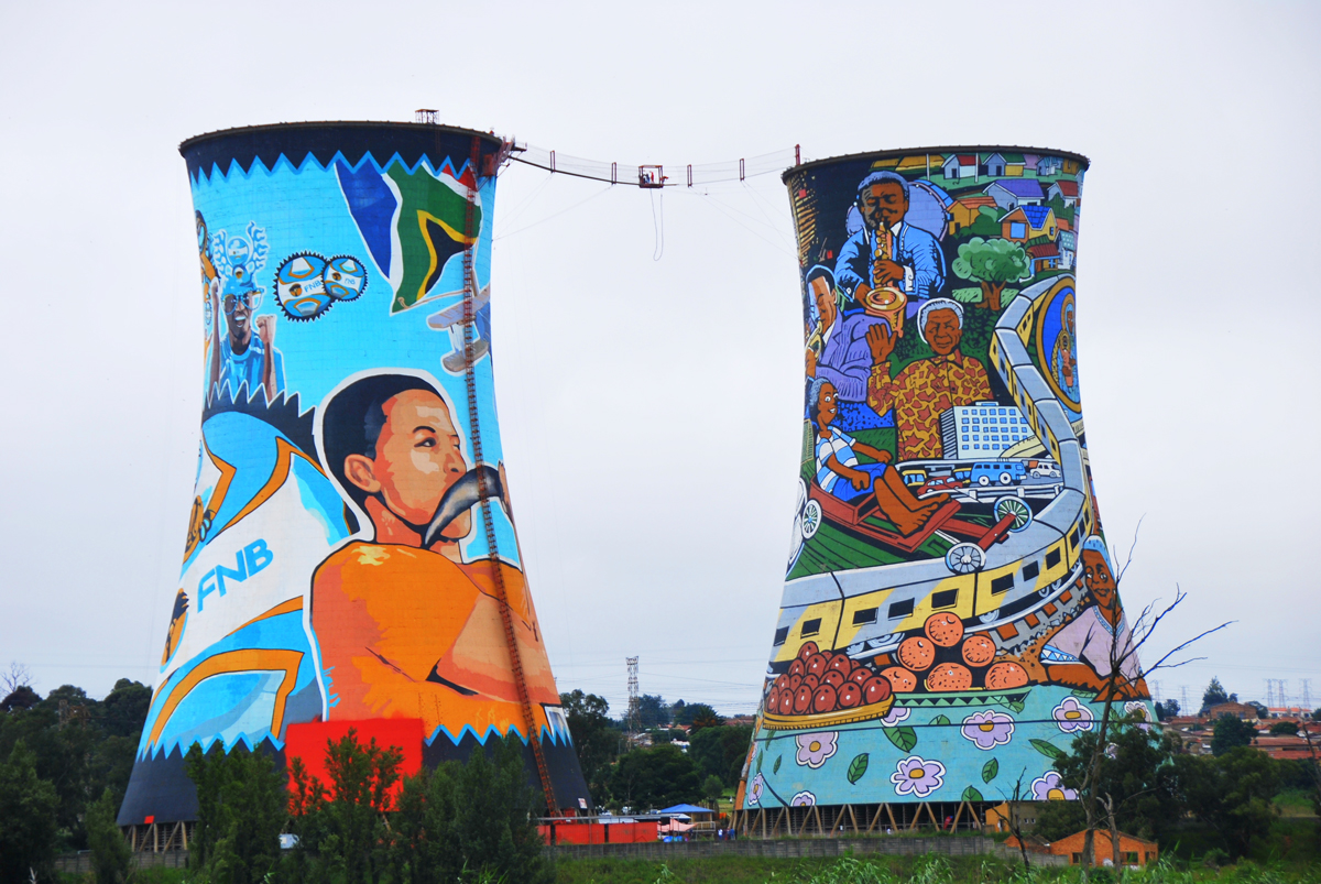 Soweto Cooling Towers in Johannesburg, South Africa