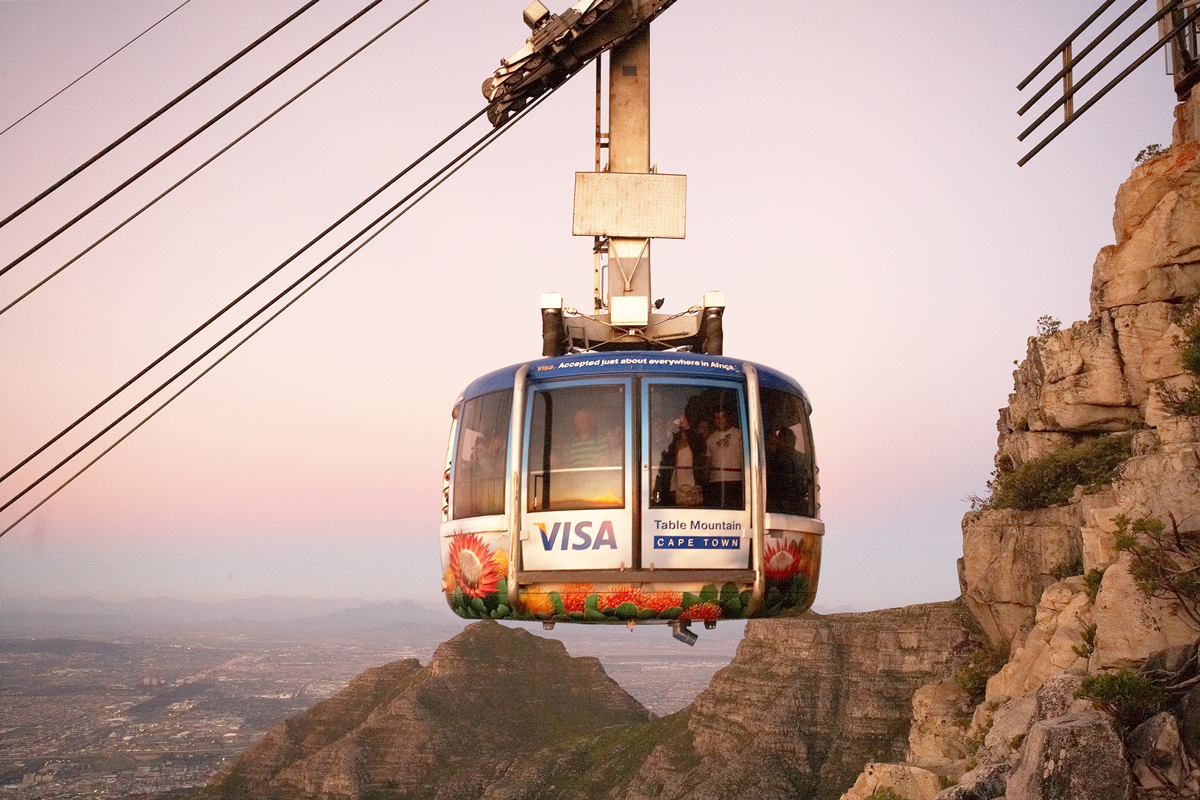 Table mountain cable way in cape town