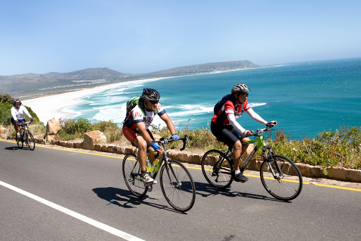 Cycling along the Cape peninsula