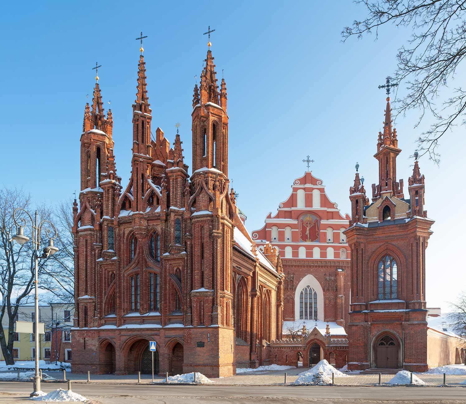 St. Anne's and St. Francis and St. Bernardino Churches - a landmark in Vilnius, The capital of Lithuania