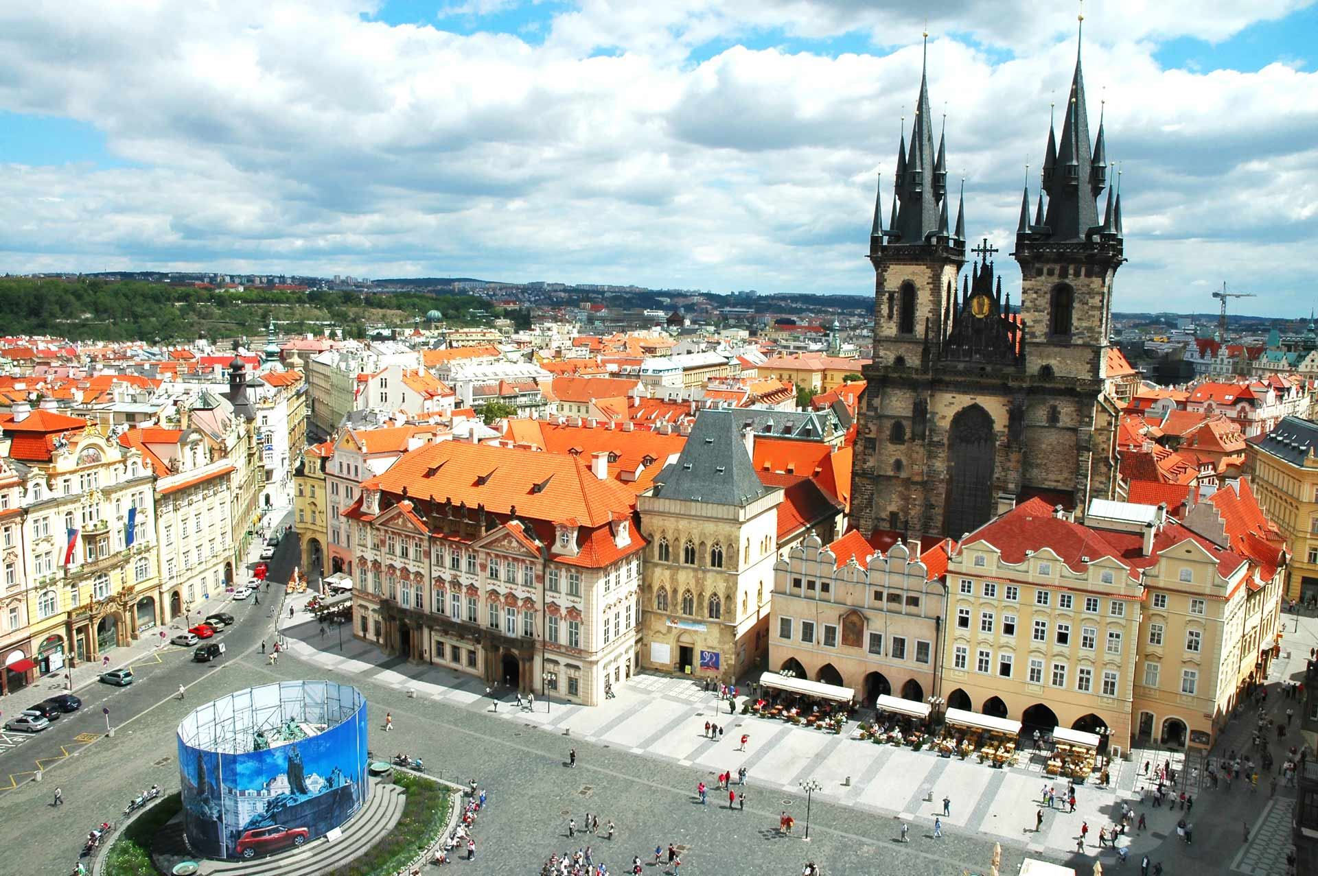 View on Old Town Square in Prague, Czech Republic