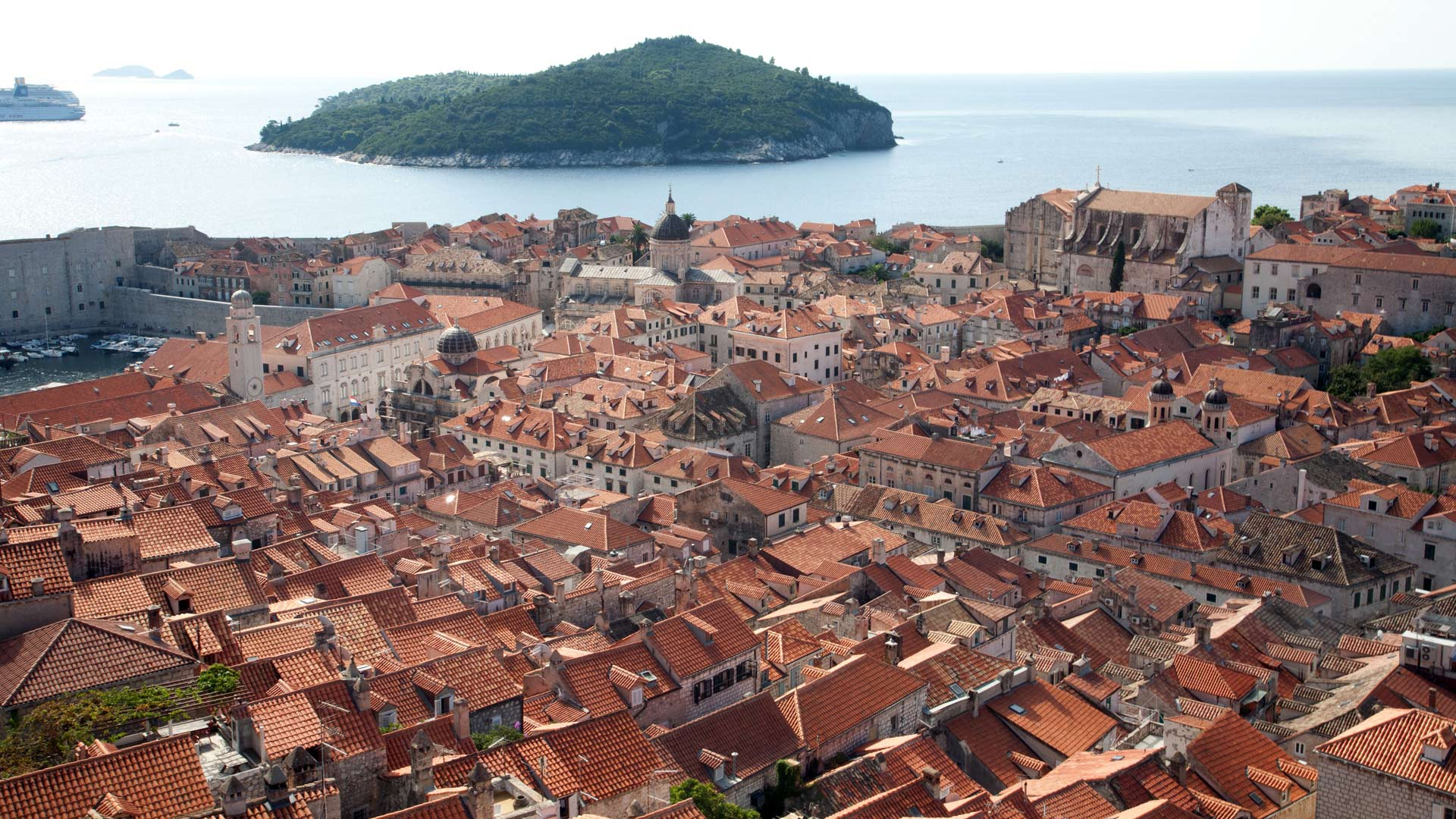 Panorama of Dubrovnik from the City Walls, Dubrovačko-Neretvanska, Croatia