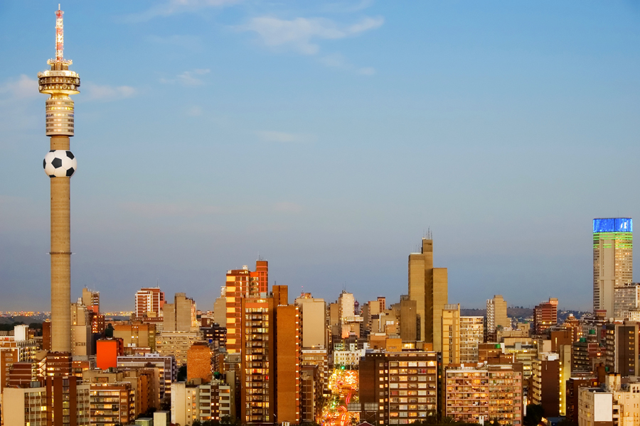 A urban city view at Johannesburg