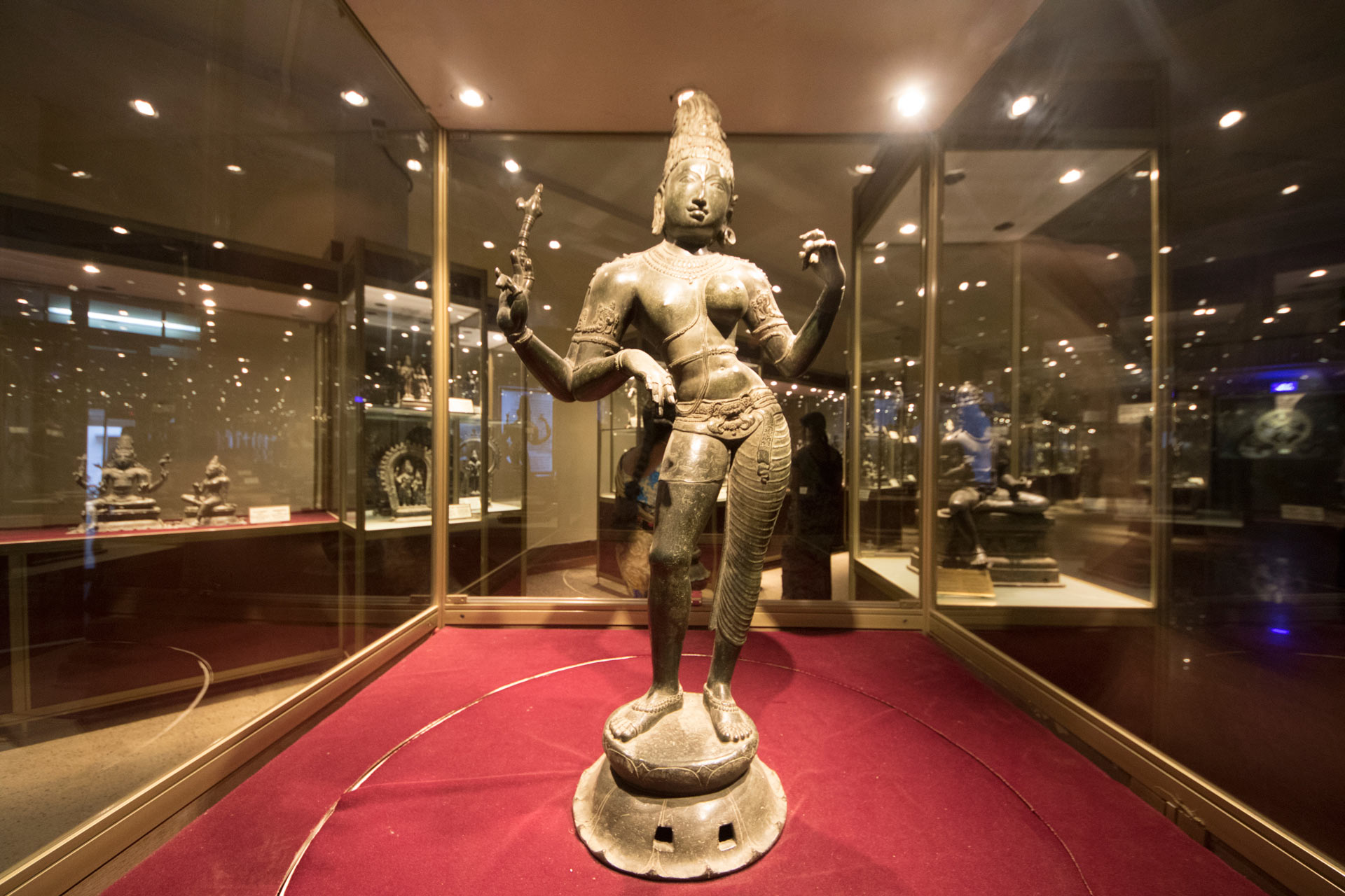 Arthanarishvara from Tiruvengadu, dating to the 11th century AD, on display at the Government Museum (Madras Museum), Chennai, Tamil Nadu, India