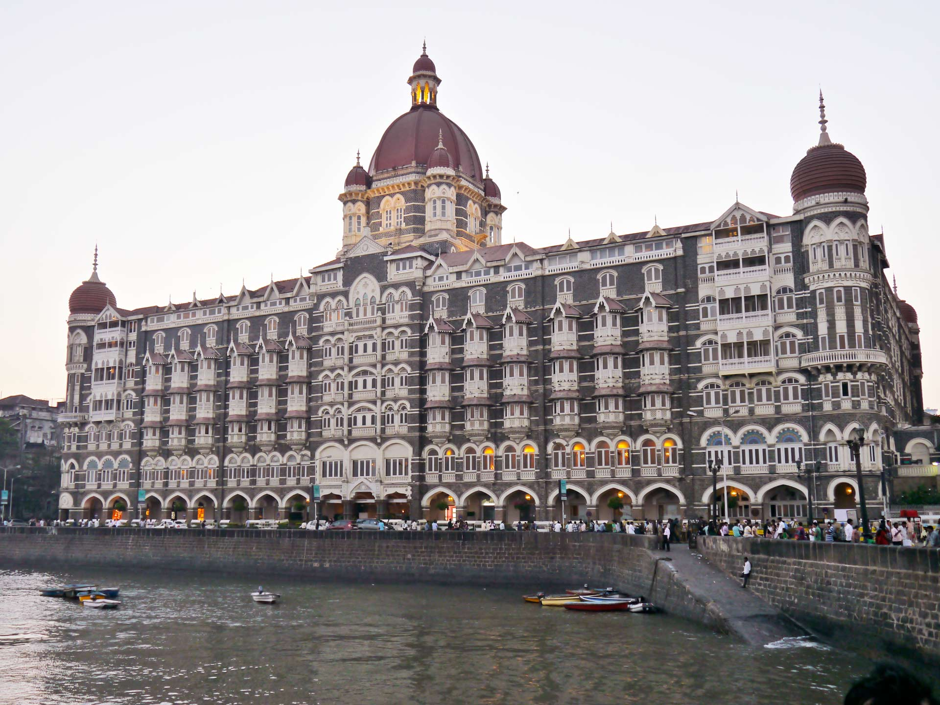 Taj Mahal hotel famous building of touristic part in Mumbai, India