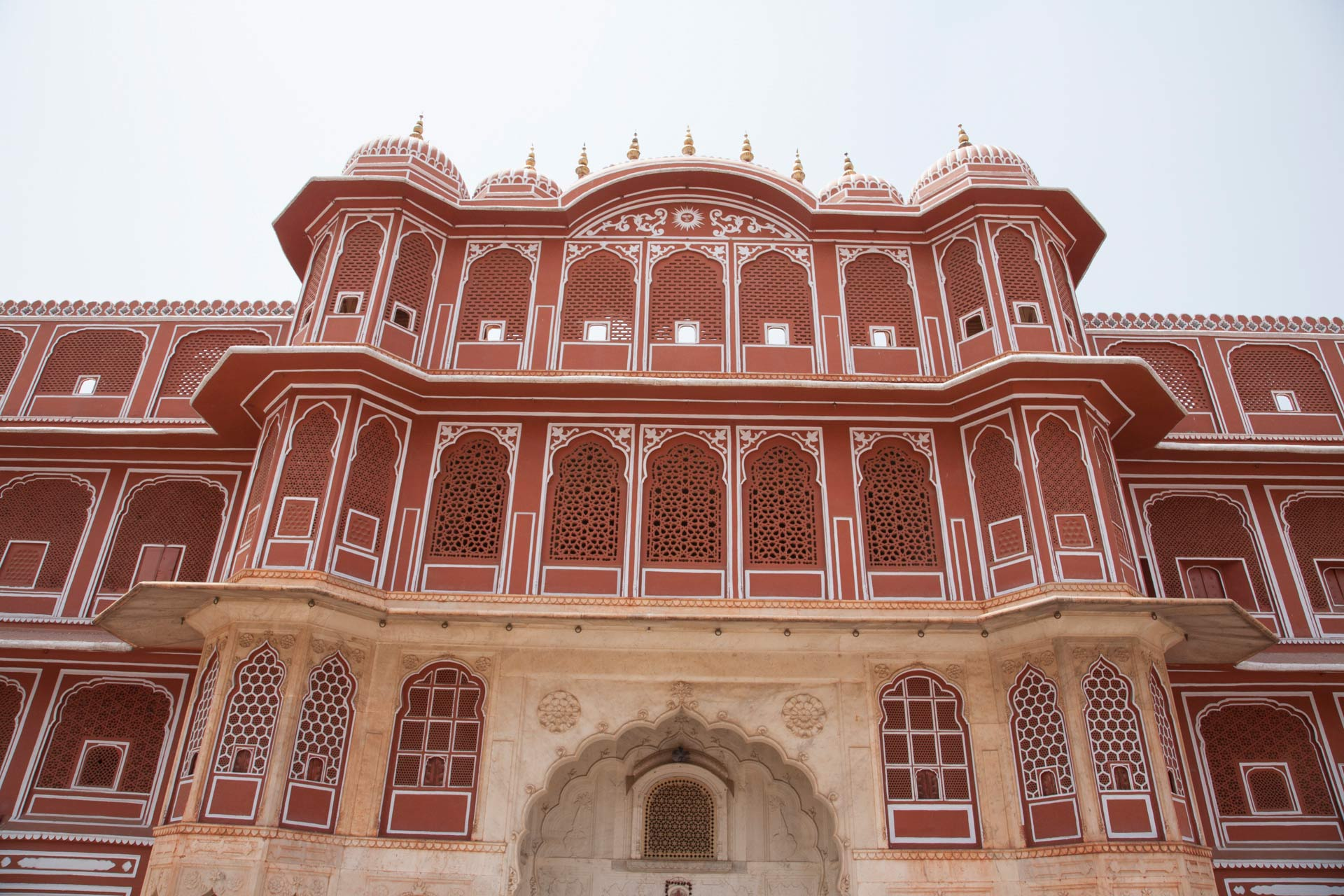 Pink Courtyard at the City Palace, Jaipur, Rajasthan, India