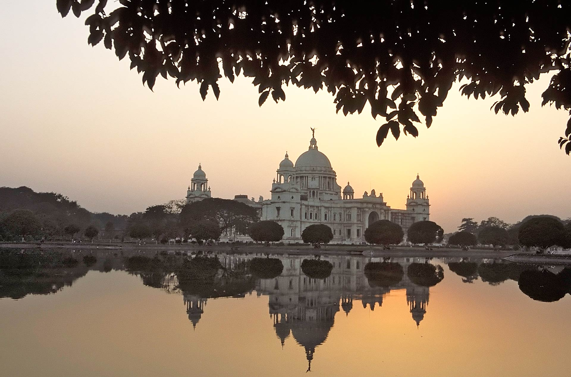 Victoria Memorial at sunset, Kolkata, West Bengal, India