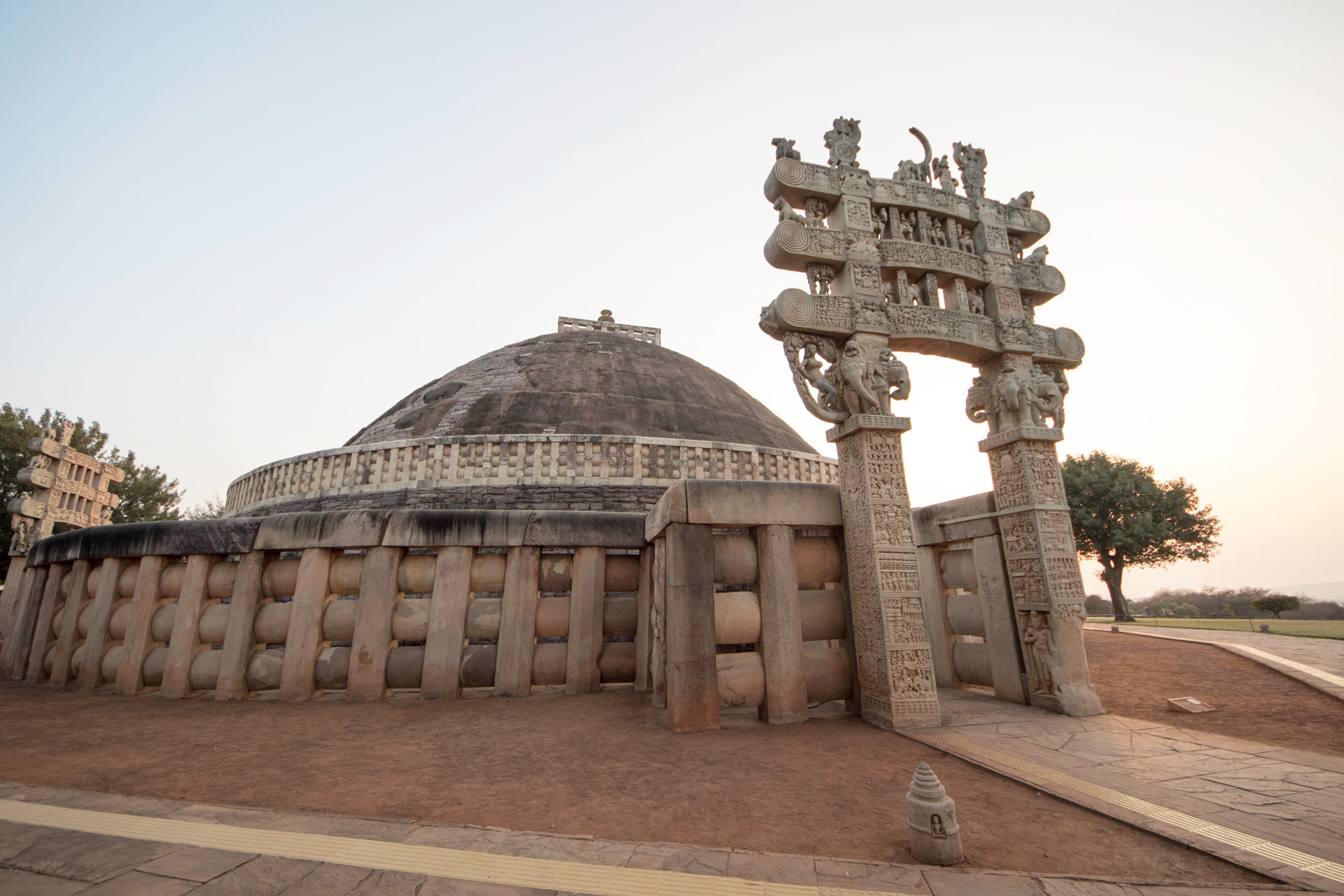 Northern Gate in front of the Great Stupa (No.1), Sanchi, Madhya Pradesh, India