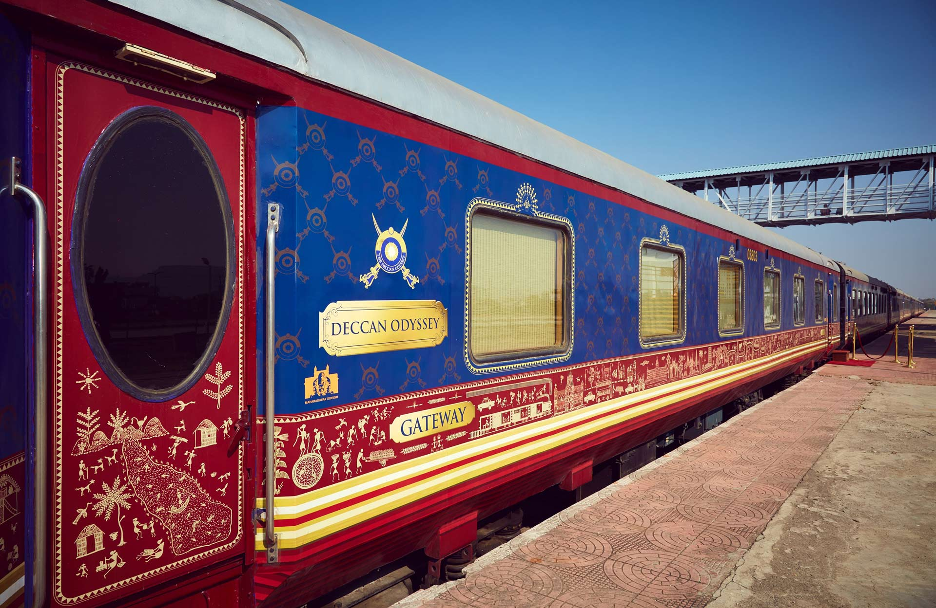 Deccan Odyssey train providing a luxury travel experience magnificent history of India.