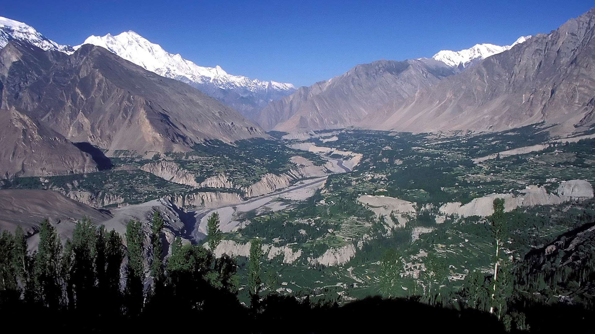 Hunza Valley and the peaks of the Karakoram, as seen from Duikar, Northern Areas, Pakistan
