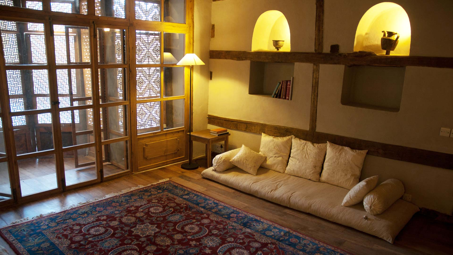 Raja's room of Shigar Fort Residence, Baltistan, Northern Areas, Pakistan