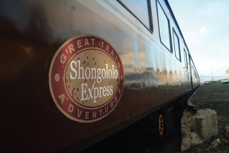 African Explorer - Shongololo newlogo on train