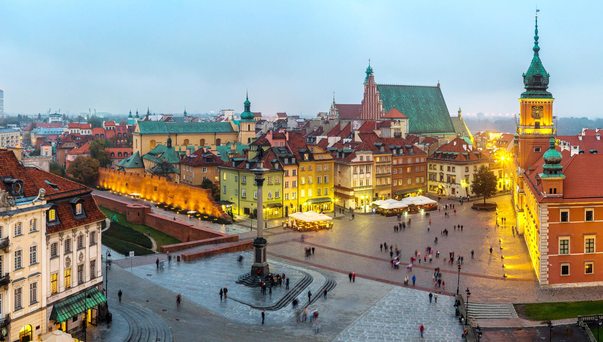 Panoramic view of Warsaw in Poland