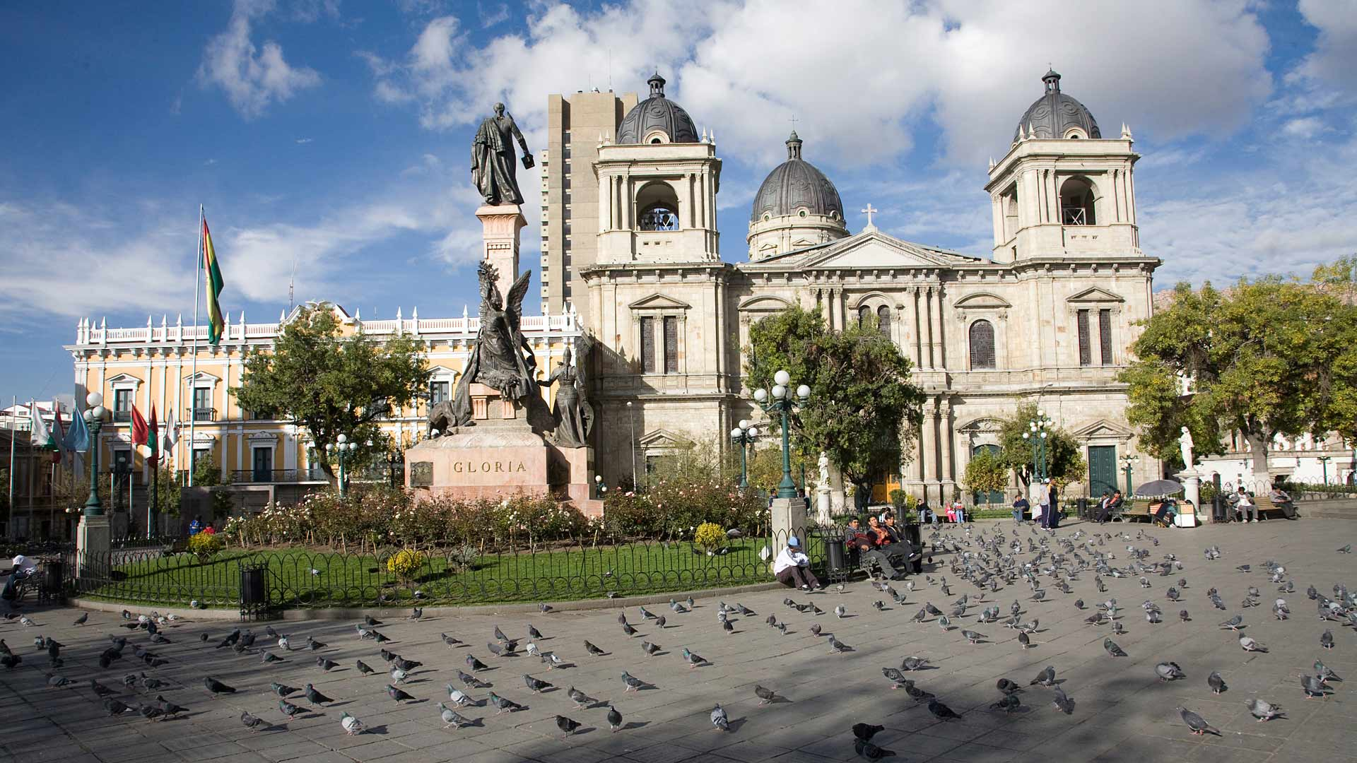 Plaza Murillo and Cathedral of La Paz