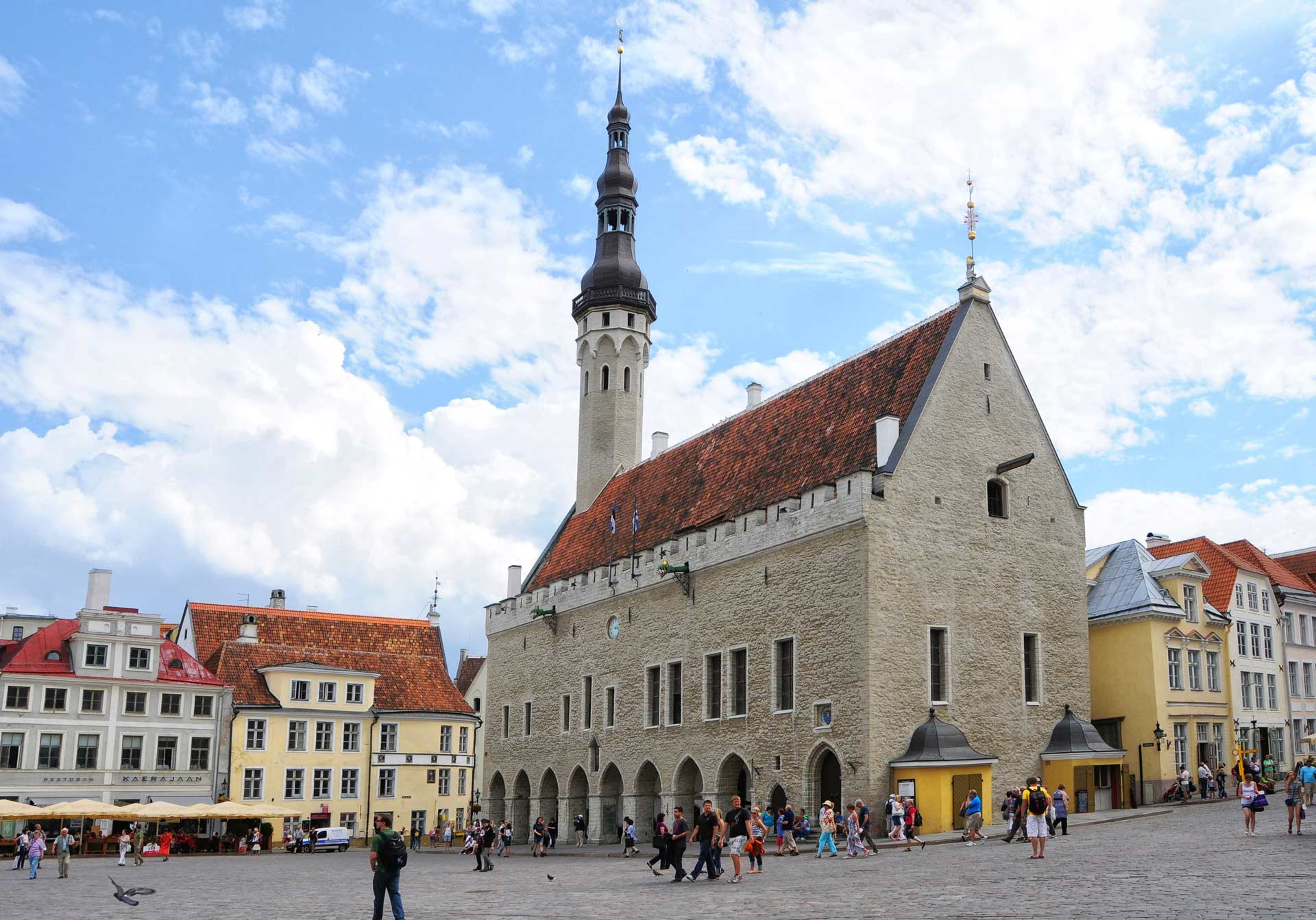 Town Hall Square of Tallinn, Estonia
