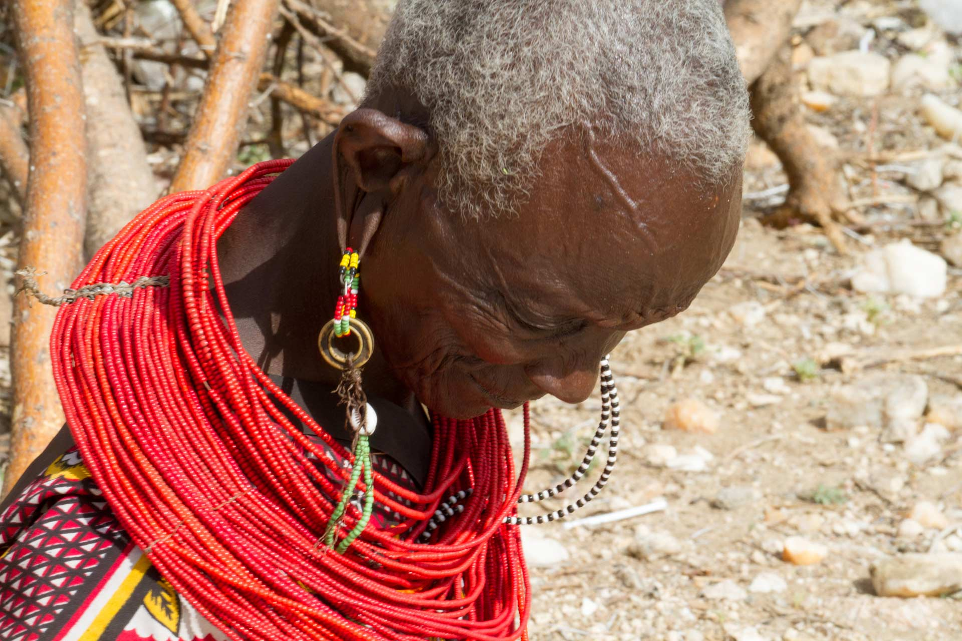 Elderly Samburu woman, Samburu County, Kenya