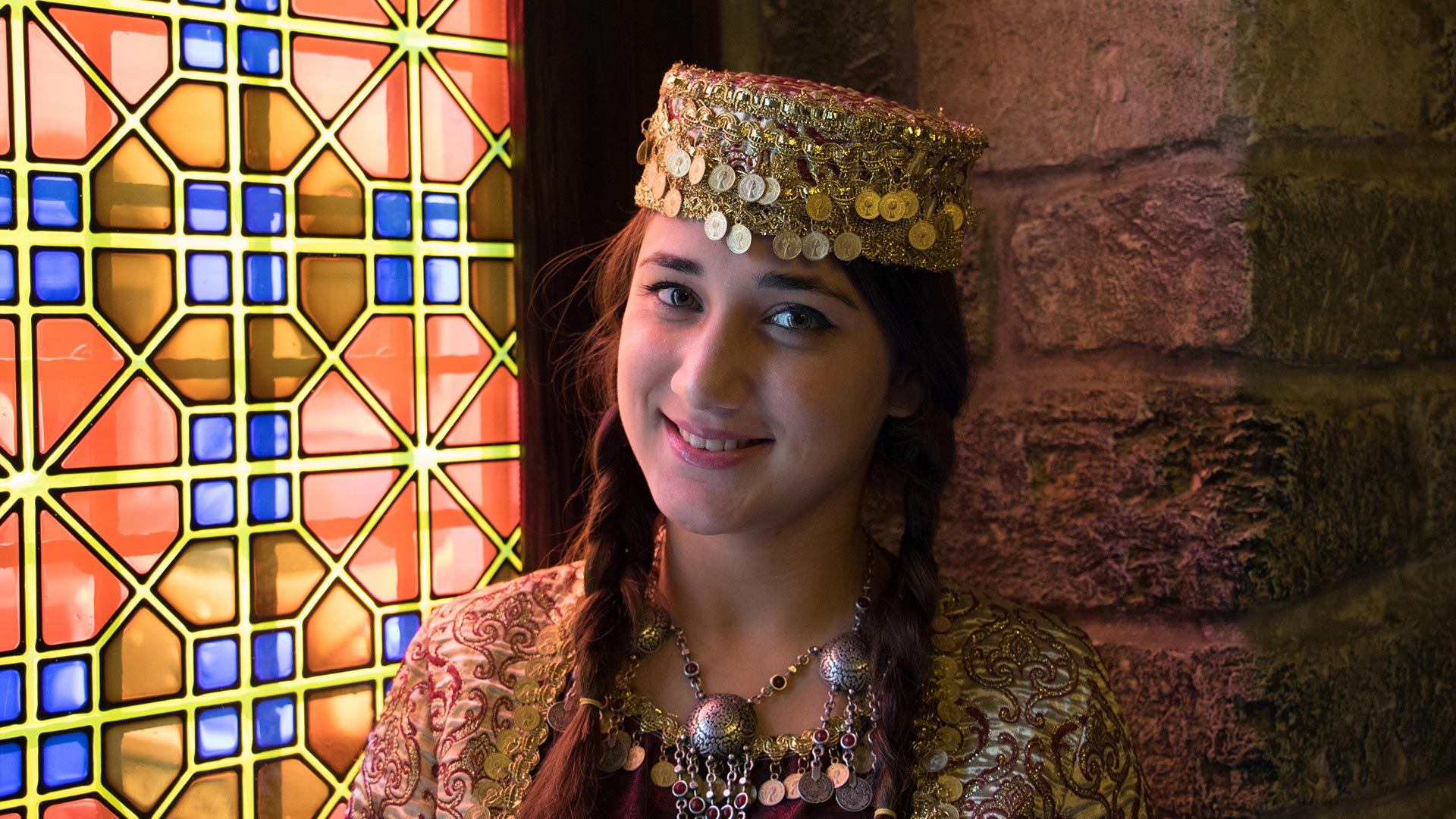 Beautiful smiling woman, baku, azerbiajan