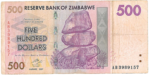 The Reserve Bank Of Zimbabwe Started To Counter By Issuing Currency Bills Higher Denominations So Came Zwd 500 Followed 000 And Then